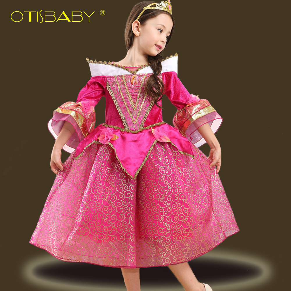 Sleeping Beauty Princess Cosplay Dress Fancy Costume for Kid Girl Birthday Party