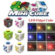 font b 2017 b font Newest Version font b LED b font Fidget Cube EDC