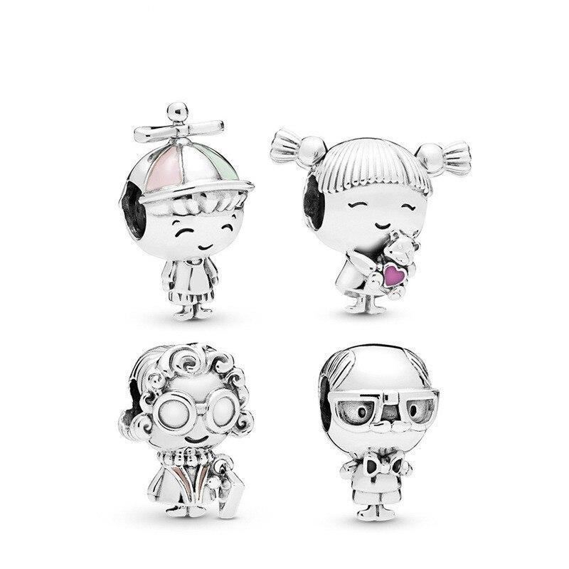 5PCS-HTevak-New-People-Shape-Charms-Girl-Boy-Grandma-Grandpa-Spacer-Family-Beads-Fit-DIY-Pandora