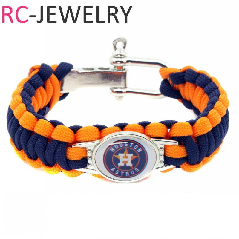New Fans stainless steel Survival Paracord Bracelet Texas Rangers Team Charm Friendship Outdoor Camping Baseball Bracelet