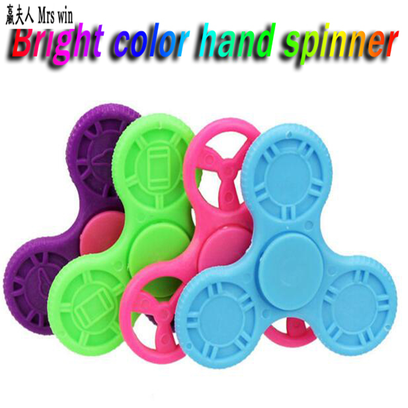 Hot Tri-Spinner Fidget Toy Plastic EDC Anti-Stress Spinner Hand Handspinner For Autism...