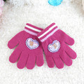 2017 Baby Girl Winter Gloves Knitted Wool O Warm Gloves Kids Heart Orlon Babys Winter Gloves Luvas De Inverno