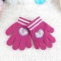 2017 bebé del invierno guantes de punto de lana o guantes calientes kids heart orlon babys invierno guantes luvas de inverno