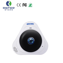 ESCAM Q8  960P HD 360 Degree Panoramic, fisheye camera P2P with SD card IP Camera