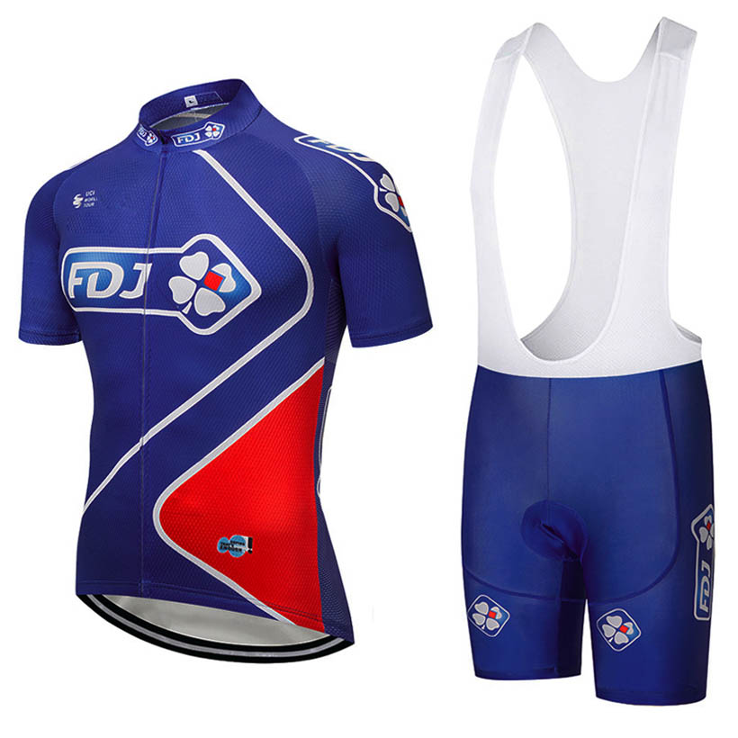 2018 FDJ Team Cycling Jersey Men cycling clothing set breathable bike jerseys bicycle Mountain wear mtb clothes ropa ciclismo cycling clothing rushed mtb mavic 2017 bike jerseys men for graffiti cycling polyester breathable bicycle new multicolor s 6xl