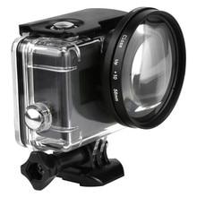 58mm Lupe 10x Vergrößerung Macro Close Up Objektiv für GoPro Hero 5 Black Edition Fall