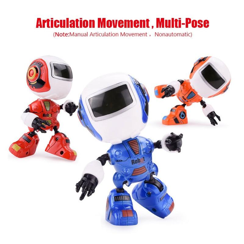 Fansaco мини робот Симпатичные сплава робот освещения голос разведки индукции совместное вращение игрушки для мальчиков подарок на день рождения