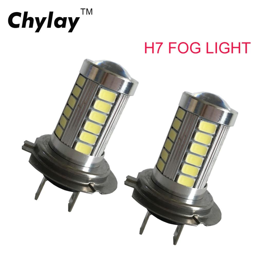 H7 LED 33SMD dienos šviesos automobiliniai LED rūko važiavimo - Automobilių žibintai