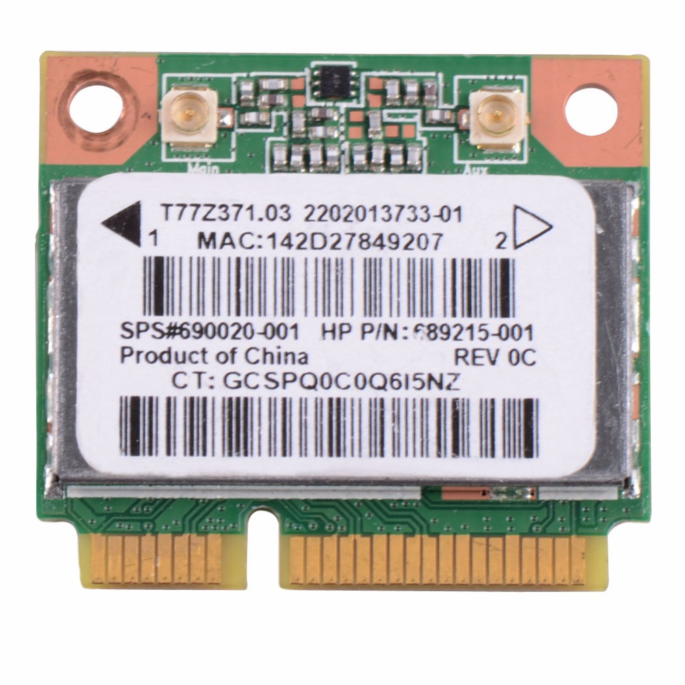 Notebook Network Cards Wireless WiFi Card RT3290 690020-001 Fit For HP Pavilion Sleekbook Laptop Network Cards VCA65