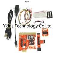 KQCPET6 H V6 Type B Multifunction Laptop And Desktop PC Universal post Diagnostic Test card Debug Support PCI,PCI E,LPC,Mini