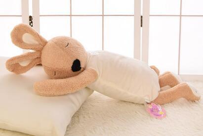Игрушек! Супер милая плюшевая игрушка прекрасный le sucre кролик папа стиль nap подушка мягкая кукла подарок на день рождения 70 см 1 шт - Цвет: brown body
