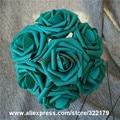 Чирок Цветы Искусственные 100 ШТ. Бирюзовый Зеленый Розы Для Свадьбы Украшения Центральные Цветочная Композиция
