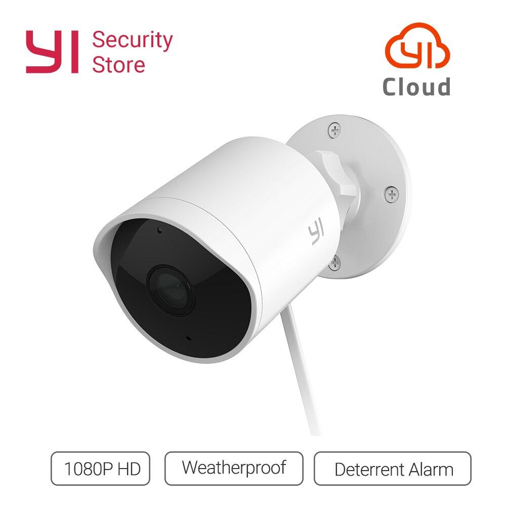 YI наружная камера безопасности 1080 P водостойкая ночного видения беспроводная ip-разрешение Безопасности Cam система видеонаблюдения Global Cloud