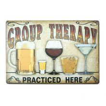 Vintage Beer Metal Plate Painting Wall Decor for Bar Pub Kitchen Home Poster Plate Metal Signs Painting Plaque 20*30cm(China)