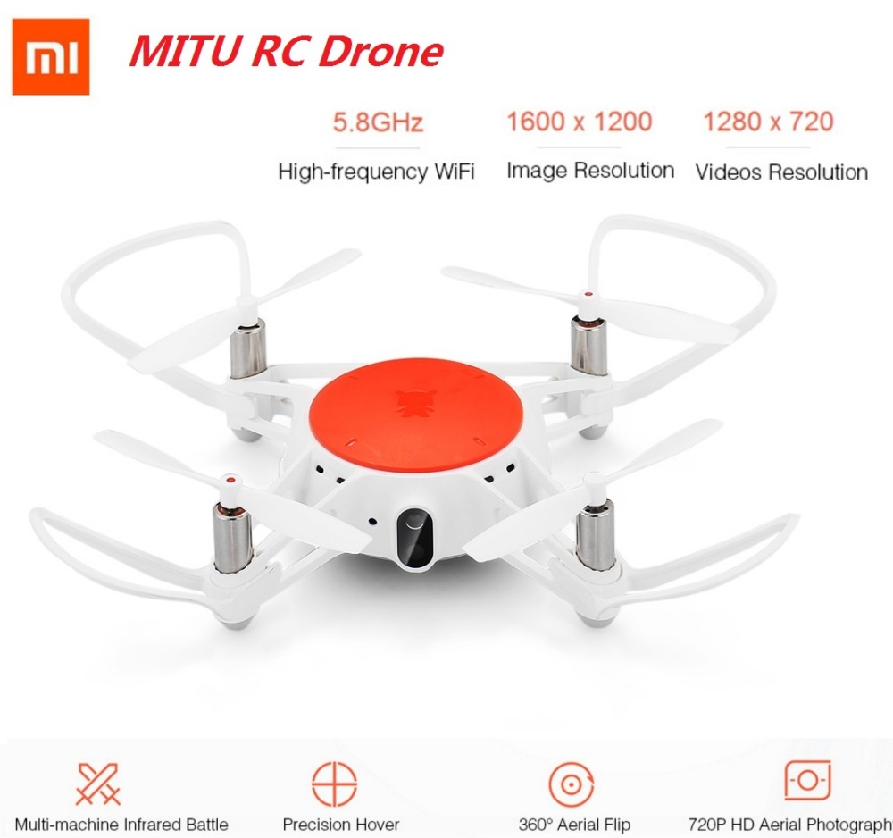 Xiaomi MITU WIFI FPV 360 Degree RC Drone Xiaomi RC Drone 720P HD Camera WiFi Remote Control Camera Drone Helicopter BNF Version genuine original xiaomi mi drone 4k version hd camera app rc fpv quadcopter camera drone spare parts main body accessories accs