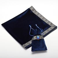 Altar Tarot Cards Bag Table Cloth Tablecloth Divination Wicca Velvet Tapestry Vintage Retro With Gem Black