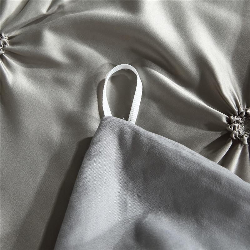 Image 5 - LOVINSUNSHINE Comforter Bedding Sets Double Duvet Cover Set King Size Luxury Silk Comforter Cover AC03#-in Bedding Sets from Home & Garden