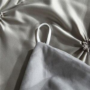 Image 5 - LOVINSUNSHINE מצעים סט שמיכת כיסוי מלך גודל יוקרה שמיכה כיסוי סט מצעים מלך גודל משי AC04 #