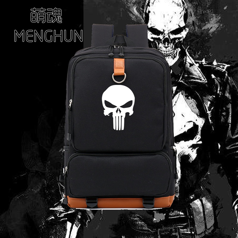 Game Fans Backpack The Punisher Backpack Movie Game Fans Bag Durable New Schoolbag Cartoon Fans Gift Backpack  NB388