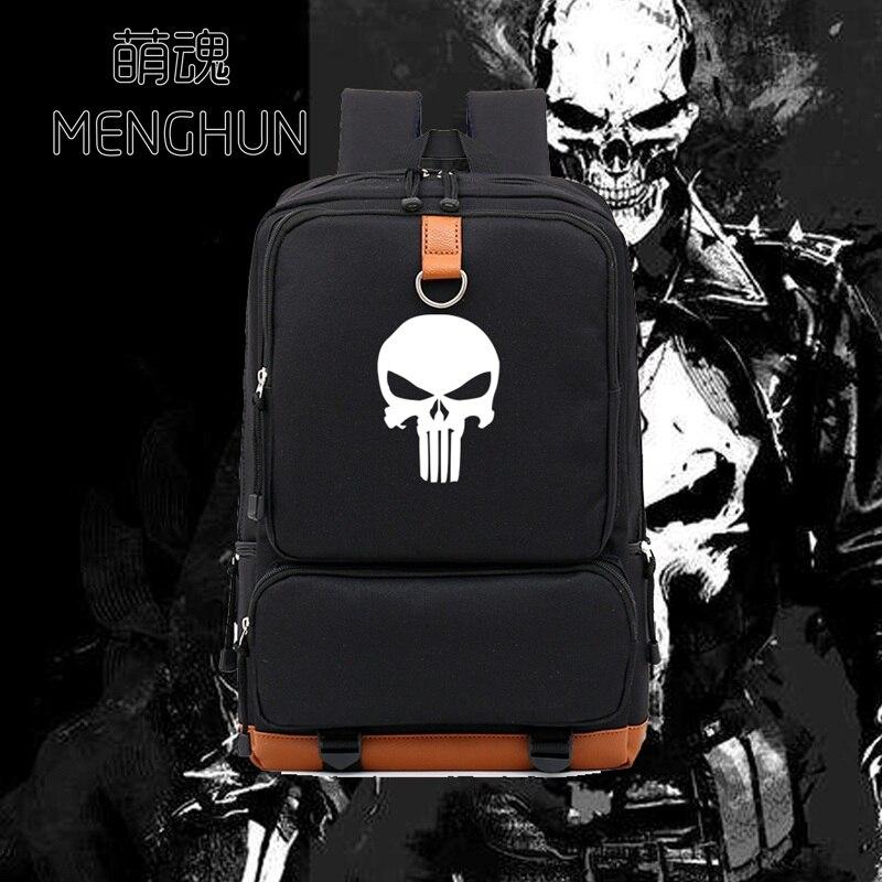Game Fans Backpack The Punisher Backpack Movie Game Fans Bag Durable New Schoolbag Cartoon Fans Gift Backpack  NB388