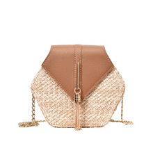 summer bags for women 2019 Simple straw bag weave Bohemia Handbag crossbody ladies hand designer