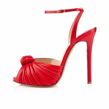 2016 New Fashion Summer stiletto High Heel ladies Sandals peep toe buckle strap Women's Shoes Customize pumps big size 4-15