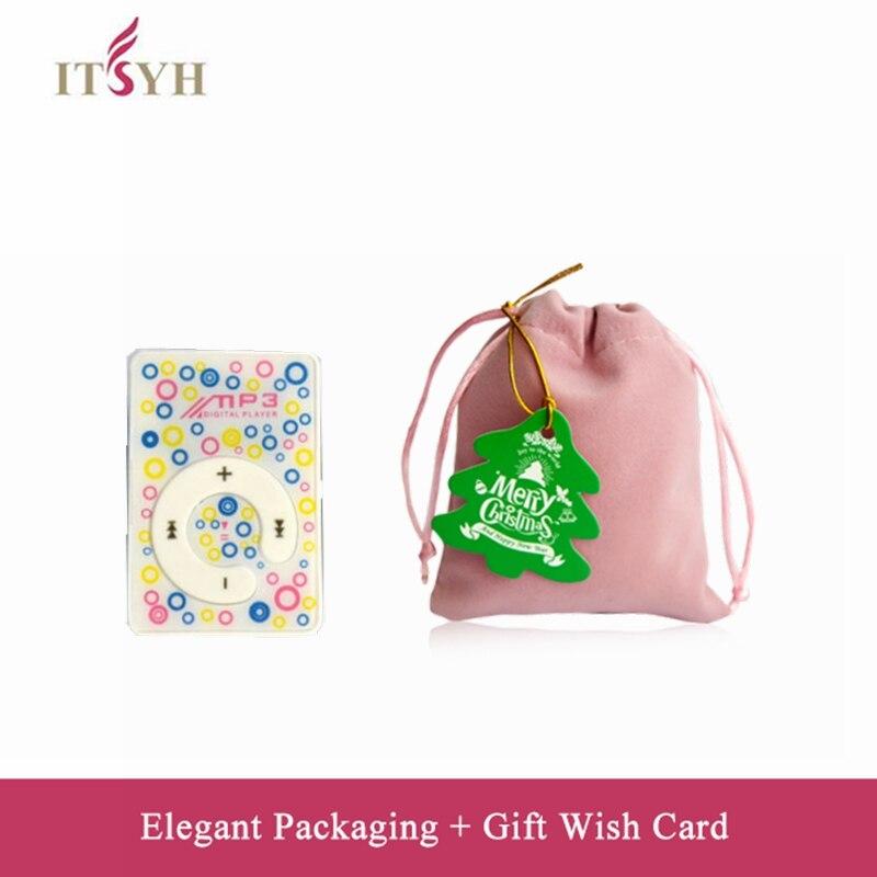 ITSYH portable lecteur de musique coupe multicolore Mini Clip MP3 Lecteur de Musique pour les enfants et cadeau d'étudiant WT8-0687