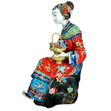 Antique Chinese Ceramic Statue of Shouzu Female Sculpture Arts Collectible Crafts Figurine Porcelain for Christmas Gifts