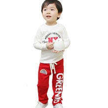 Kid Baby Boys Casual Long Pants Rainbow Trousers Child Comfy Cotton Bottoms 2-6Y