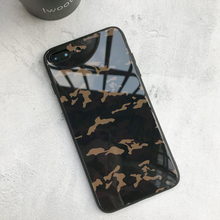 Europe American stylish trend Military camouflage moblie phone case toughened glass army green desert camo back glass shell