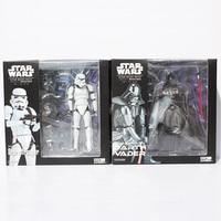 Star wars revoltech darth vader 001 stormtrooper 002 pvc actiefiguren collectible model toys