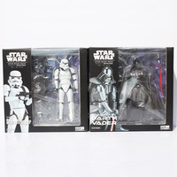 Star Wars Revoltech Darth Vader 001 Stormtrooper 002 PVC Action Figures Collectible Model Toys