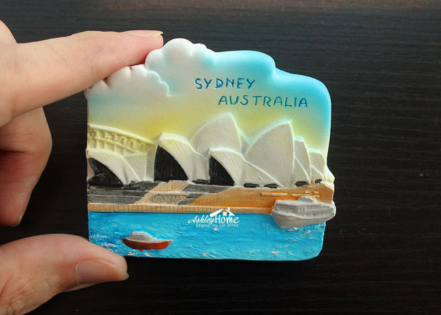 australia sydney souvenir tourist travel 3d resin decorative fridge
