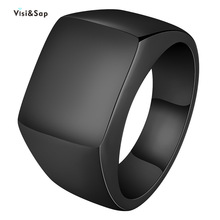 Visisap Titanium Steel Wide Men Ring Size 7-14 Dropshipping Yellow Black Steel Gold Color Rings for Birthday Gifts Jewelry S-R35 visisap titanium steel wide men ring size 7 14 dropshipping yellow black steel gold color rings for birthday gifts jewelry s r35