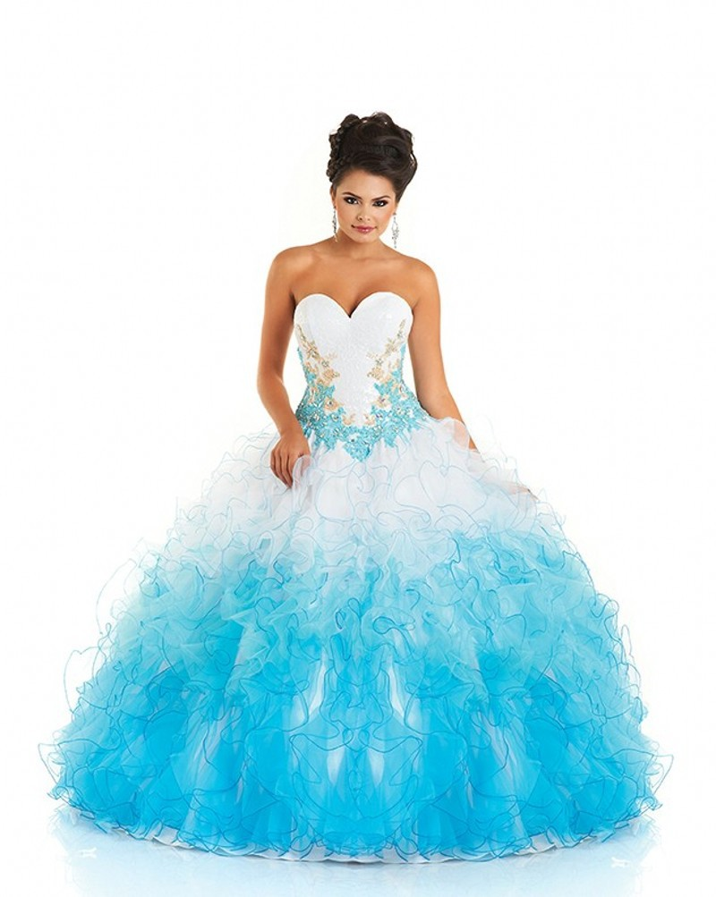 Online Get Cheap White and Blue Sweet 16 Dresses -Aliexpress.com ...