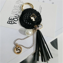 CX-Shirling Fashioon Lady Pendant Long Tassel Keychain Luxurious Letter 5 Car Handbag Decoration Accessories Female