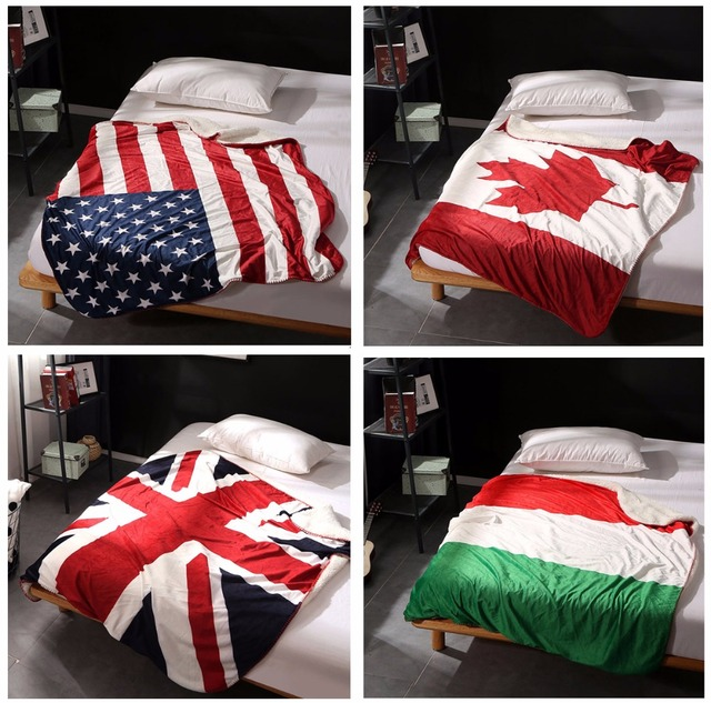 Aliexpress Buy Double Layer Blankets Thick Canadian Maple Leaf Beauteous Plush Throw Blanket Canada