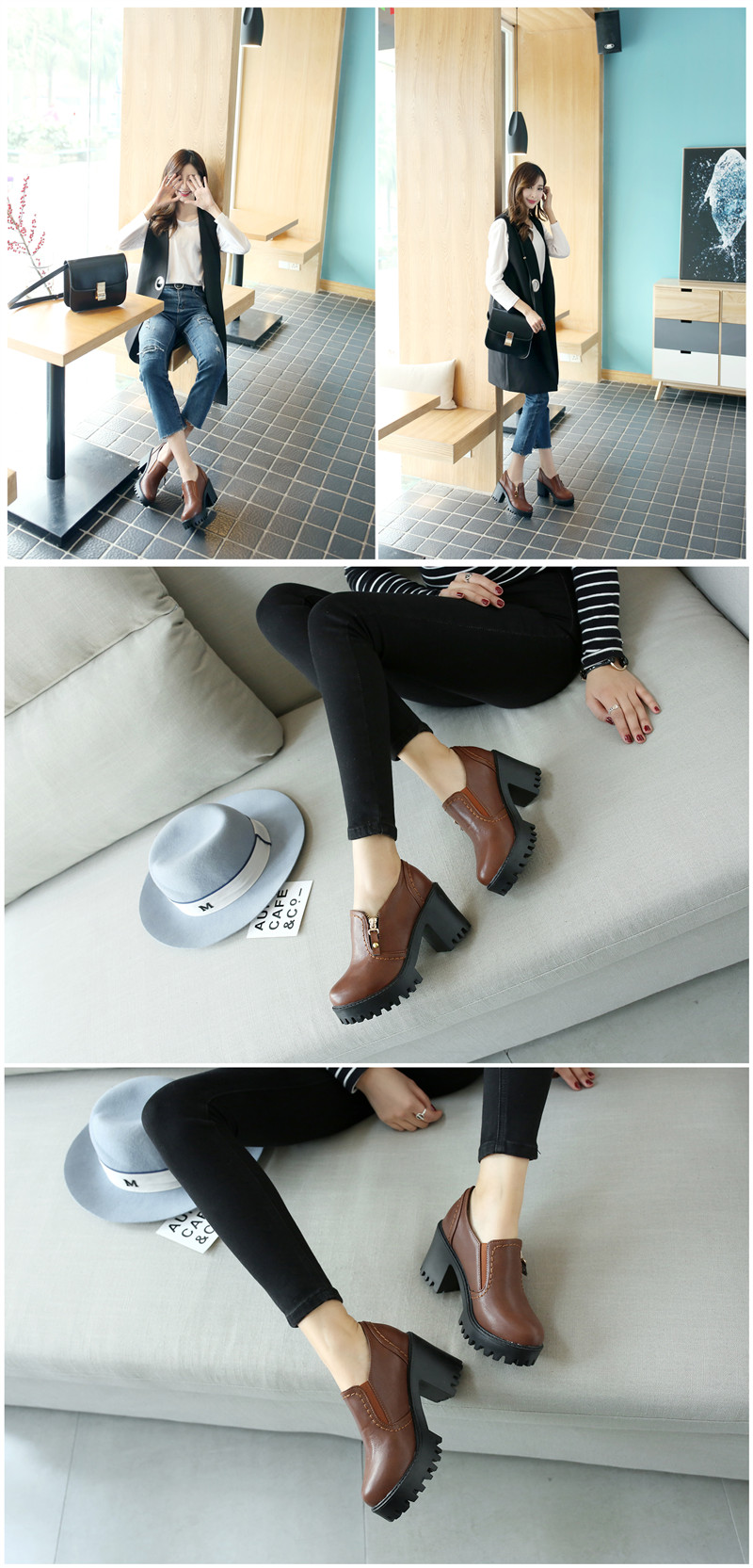 square heels pumps