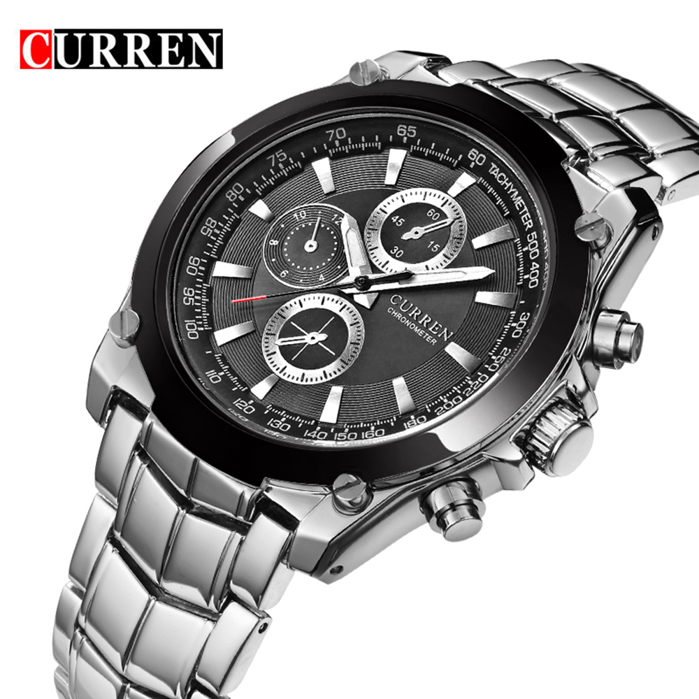 NEW CURREN Luxury Brand Men Full Steel Business Wristwatches Man Casual Waterproof Watch Quartz Watches relogio masculino 8025 2016 biden brand watches men quartz business fashion casual watch full steel date 30m waterproof wristwatches sports military wa