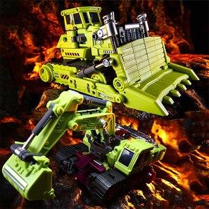 Image 5 - Jinbao GT Devastator dönüşüm G1 boy 6 IN1 Bonecrusher kazıyıcı mesafe Mixmaster kanca KO aksiyon figürü Robot oyuncaklar hediyeler
