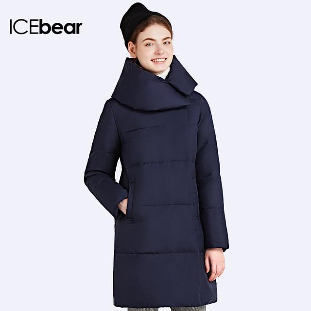 ICEbear 2016 Средней Длины  Новый  Модный  Бренд Пуховик  средней длины Женские зимние куртки Био-Пух качественый Женские стильные парки  16G6205