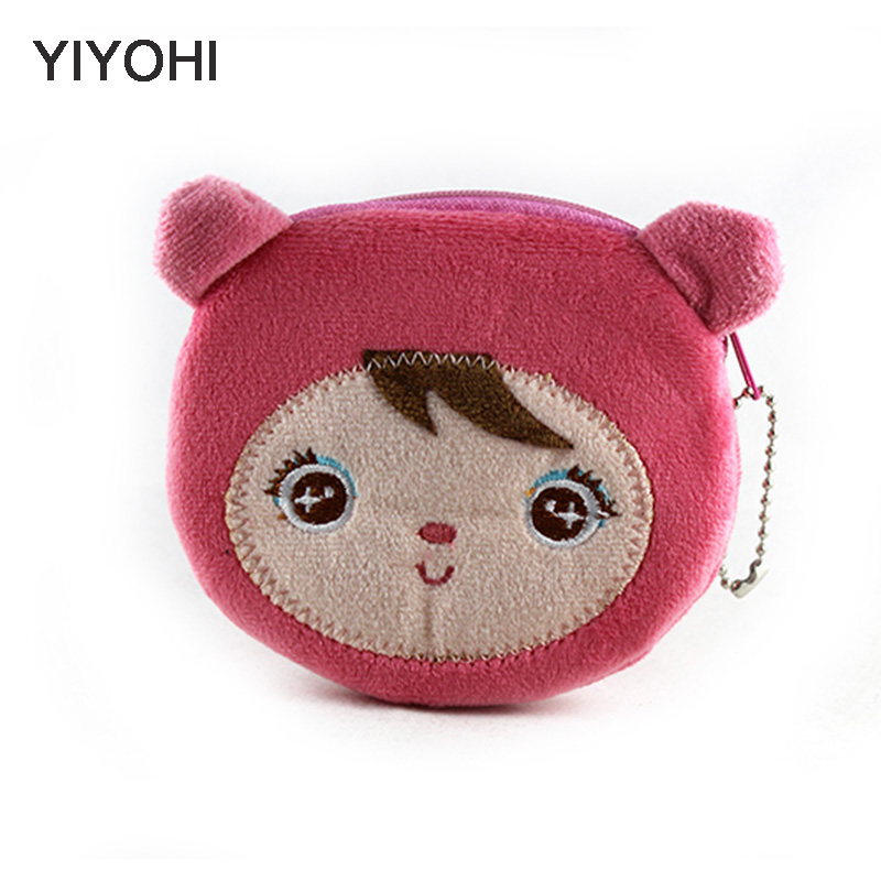 New Kawaii Cartoon Angela Children Plush Coin Purse Zip Change PurseKids Girl Women Mini Wallet Storage Bag For Gift