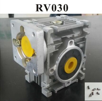 5:1 à 80: 1 ver Réducteur RV030 Ver Boîte De Vitesses Vitesse Réducteur Avec Arbre Manches Adaptateur pour 8mm Arbre D'entrée de Nema 23 moteur