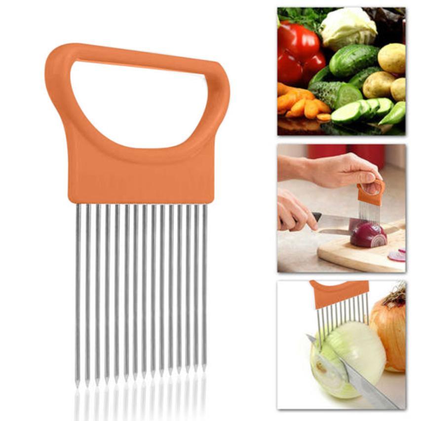 2019 New Kitchen Gadgets Onion Slicer Tomato Vegetables Safe Fork vegetables Slicing Cutting Tools