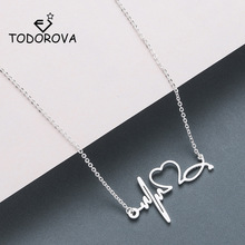 Todorova Stainless Steel Stethoscope Heartbeat Necklace Wome
