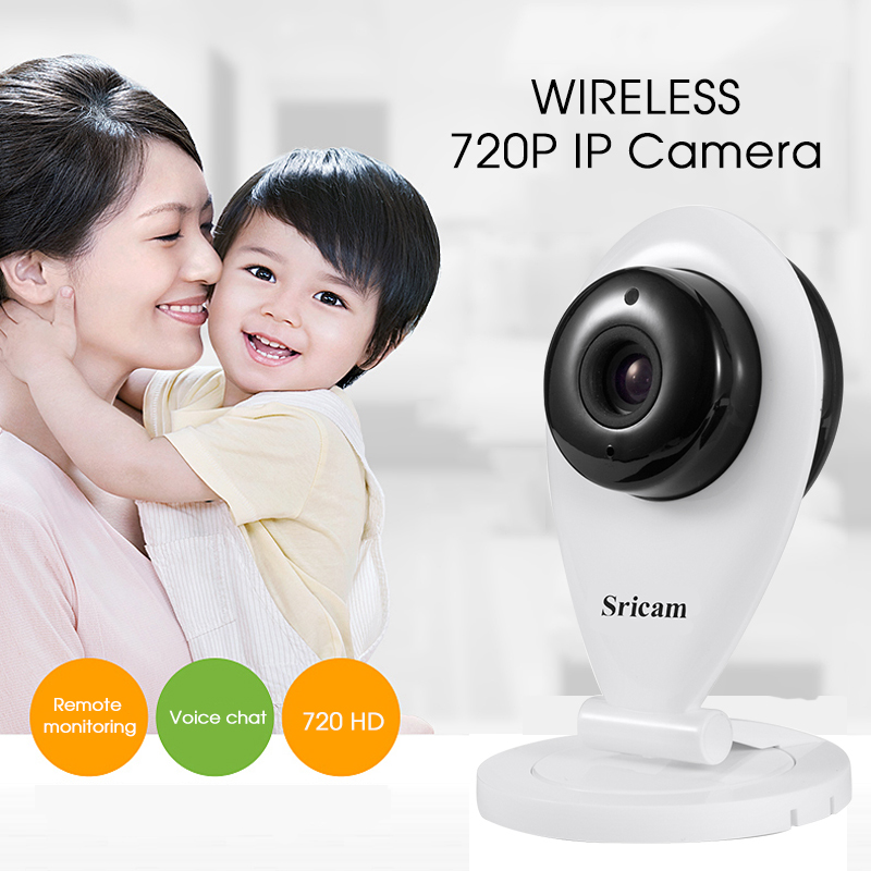 Original Sricam Wireless 720P IR-Cut Night Vision IP Camera P2P Baby Monitor Audio WIFI CCTV Onvif Indoor Security IP Camera