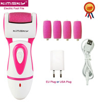 KIMISKY RED RECHARGEABLE Foot Care Tool Waterproof Electric Pedicure Foot File Callus Remover Feet Dead Skin