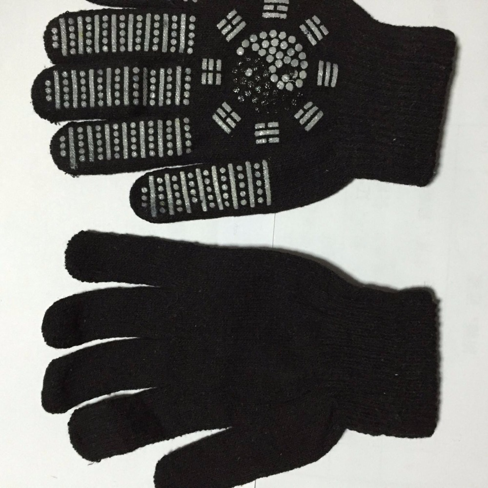 Black gloves white magic - 1 Pair Arthritis Hands Gloves Magic Tourmaline Gloves Two Colors Choice Free Ship China