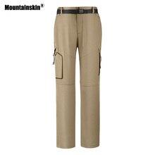 Горные 4XL мужские походные брюки летние уличные съемные быстросохнущие дышащие брюки для кемпинга рыбалки треккинговые брюки VA257