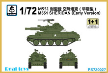 S-model 1/72 PS720027 M551 SHERIDAN Early Version plastic model kit(China (Mainland))
